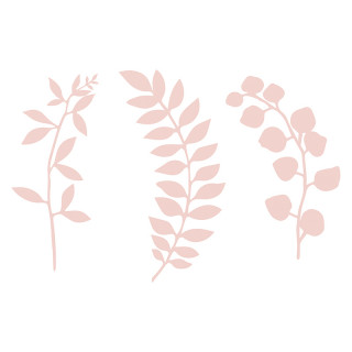 Feuillages rose poudré en papier