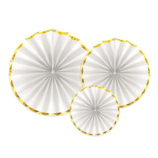 Rosaces blanches et dorées