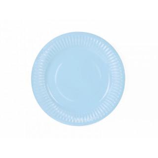 x6 Assiettes Bleu Ciel 18 cm