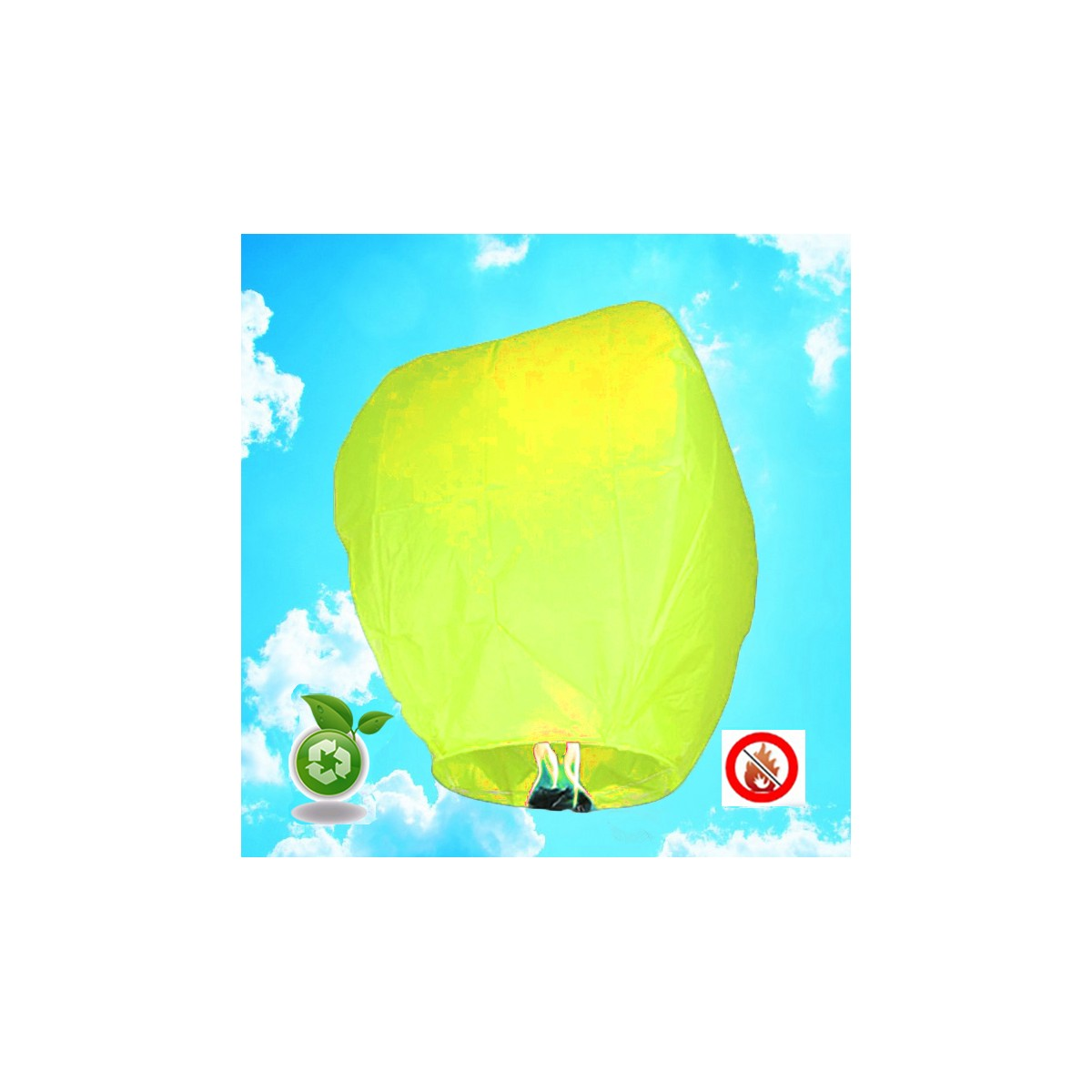 Lanterne Volante Biodégradable - Jaune