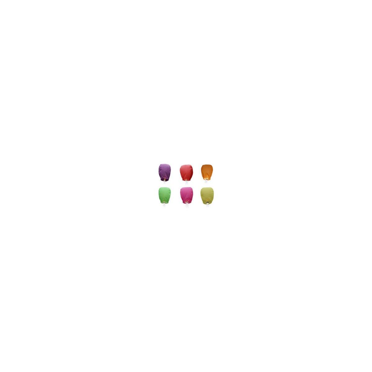 Lanterne Volante Multicolores x 6