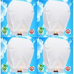 10 Lanternes Volantes - Couleurs au choix