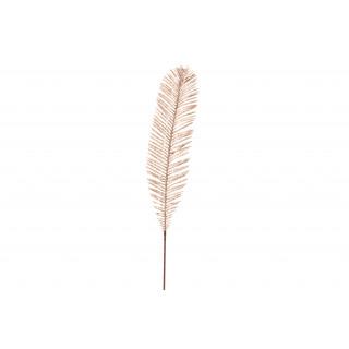 Feuillage en forme de plume pailletée rose gold