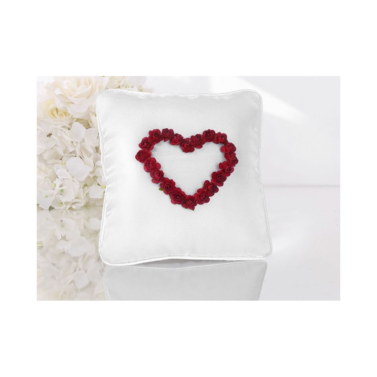 Coussin Alliance Rose Rouge
