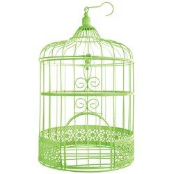 Cage Oiseau Deco Vert