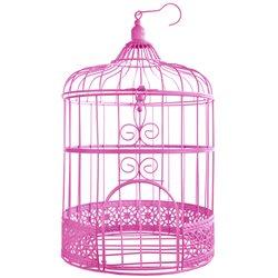 Cage oiseau Deco Fuchsia