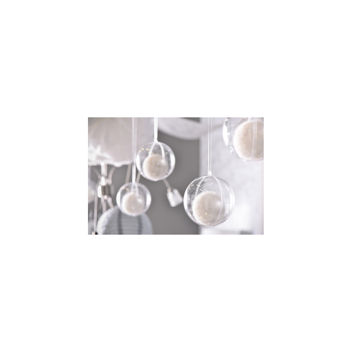 5 x Boule Transparente 10 cm