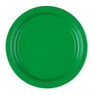 Assiettes en carton vert