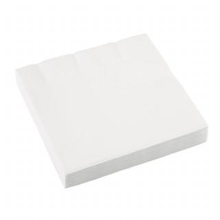 serviette en papier blanche