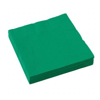 serviette en papier verte