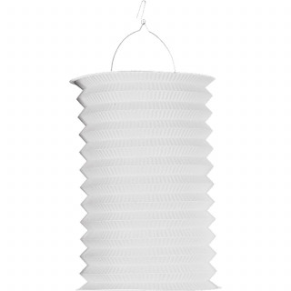 Lampion accordeon blanc