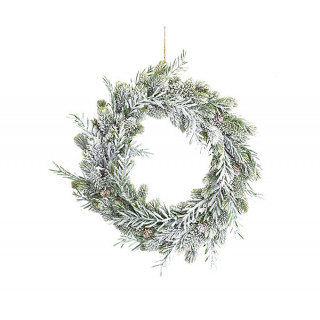 Couronne de Noel avec branches de sapin