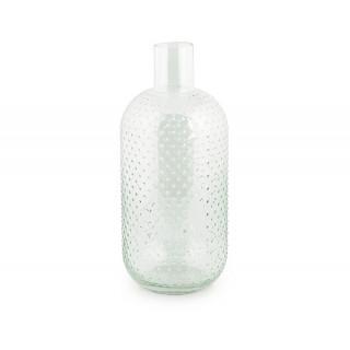 Vase forme bouteille en verre transparent