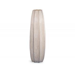Vase haut strié de 62 cm aux tons naturels
