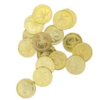Pièces pirates dorées x24 - 2.3cm