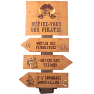 Panneau pirate kraft et doré - 75cm x 40cm