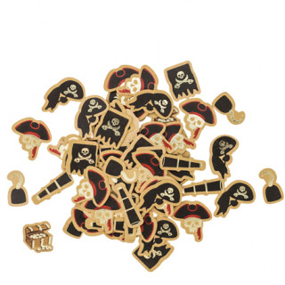 Confettis pirate x100 - 1.5 à 3cm
