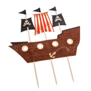 Cake topper bateau pirate - 17.5cm x 21cm