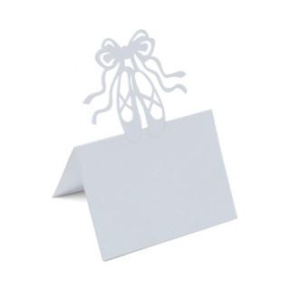 Marque-places ballerine blanc x10 - 8x12cm