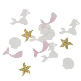 Confettis sirène iridescent paillettes or x100 - 2 à 4cm