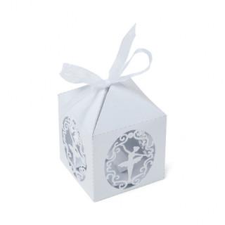 Contenants danseuse blanc x10- 5x7.5cm