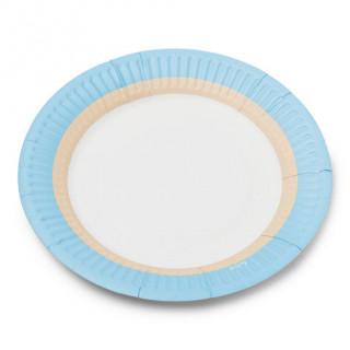 Assiettes en carton ice x12 - 18cm