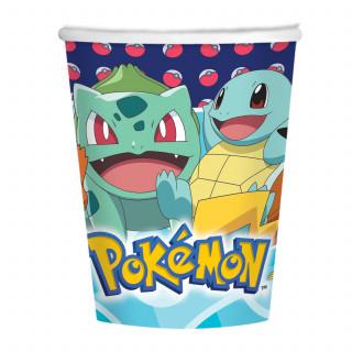 gobelets en carton Pokemon x8