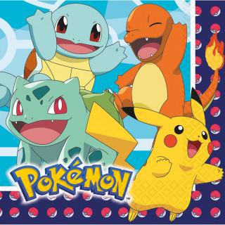 Serviettes en papier Pokemon x16 - 33 x 33 cm