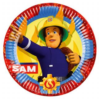 assiette Sam le Pompier 23 cm x8