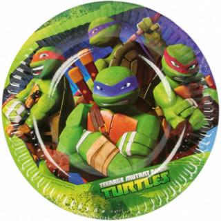8 assiettes Tortues Ninja 18 cm