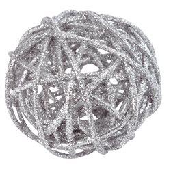 Boule Rotin Argent x 10