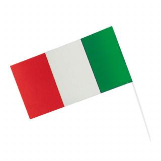 Drapeau plastique vert blanc rouge 12 x 23 cm
