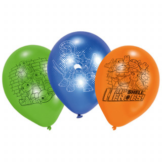 3 ballons Tortues Ninja vert bleu orange