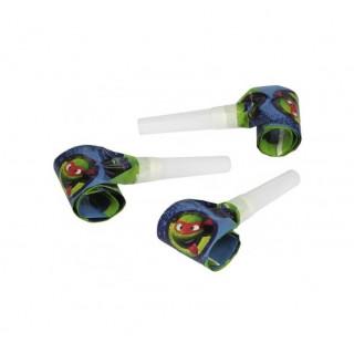 6 sifflets sans gêne Tortues Ninja 30 cm