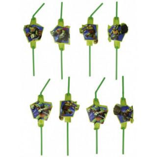8 pailles Tortues Ninja