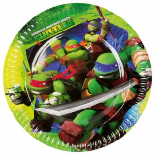 8 assiettes en carton Tortues Ninja 23 cm