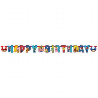 Guirlande anniversaire Super Mario 190 x 15 cm