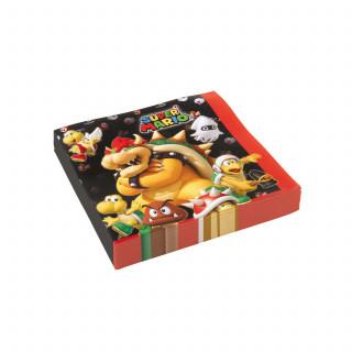 20 serviettes en papier Super Mario 33 x 33 cm