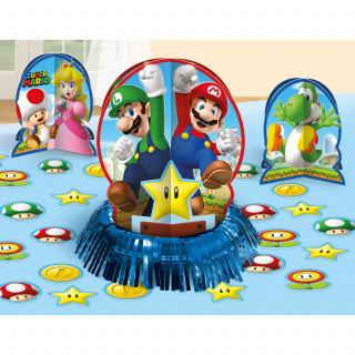 Décoration de table Super Mario en carton et polyester 23 pièces