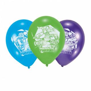 Ballons anniversaire Tortues Ninja x6