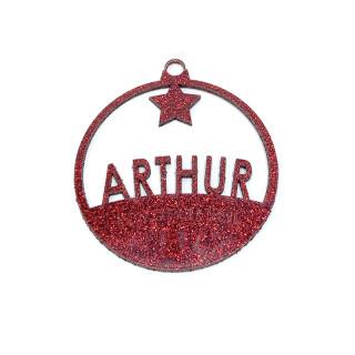 Boule de Noël personnalisée étoile rouge