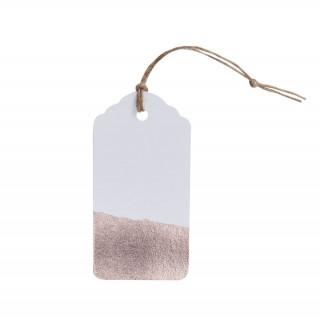 x10 étiquettes bord rose gold