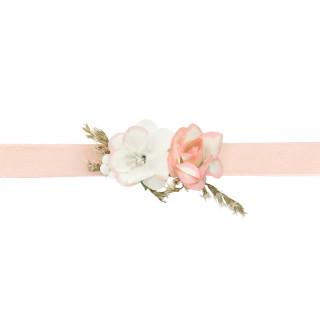Bracelet de fleur rose mariage
