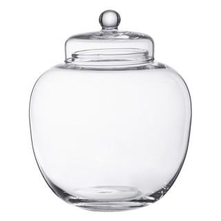 Bonbonnière en verre bombée 20 x 17.5 cm