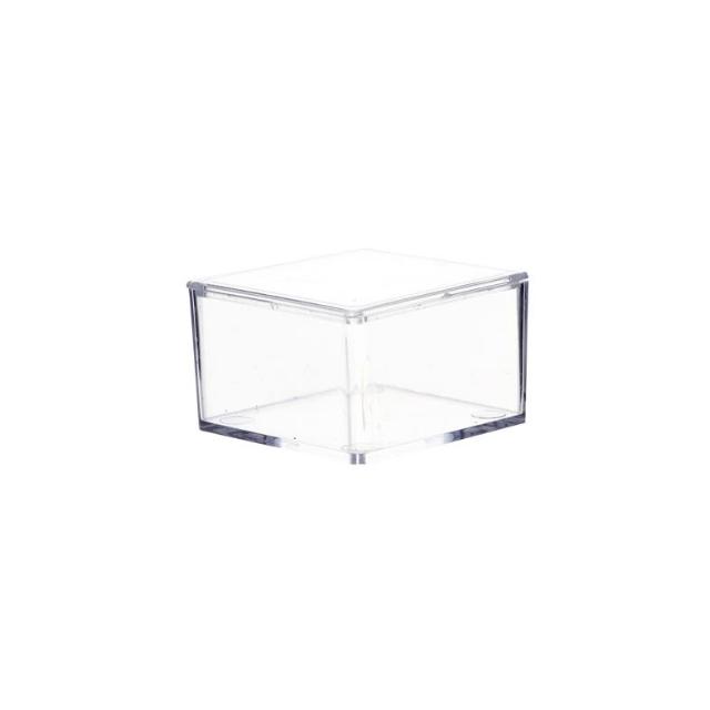 Contenant dragées rectangle plexi x6