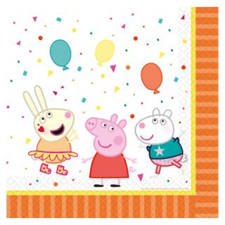 serviettes anniversaire Peppa Pig x16