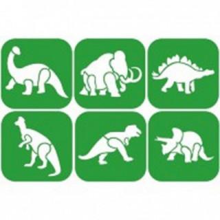 Lot de pochoir animaux préhistoriques