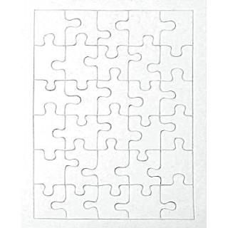Puzzle carton blanc 30pcs