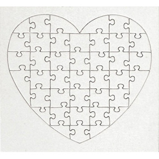 Lot de 10 puzzles coeurs 40pcs