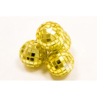 Mini boule à facette or